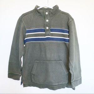 Gymboree Green Henley Sweatshirt - Size 7